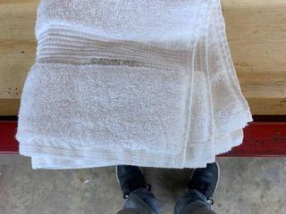 Singular Calvin Klein hand towel White