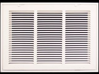 20  X 12 Steel Return Air Filter Grille for 1  Filter   Fixed Hinged   ceiling Recommended   HVAC DUCT COVER   Flat Stamped Face   White  Outer Dimensions  22 5 w X 14 5 h