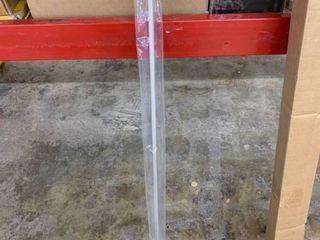 Kenney Kendall 5 8  Standard Decorative Window Curtain Rod  48 86  Brushed Nickel