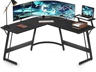 Cubiker Modern l Shaped Desk Computer Corner Desk  Gaming Writing Study Desk for Home Office Wood   Metal