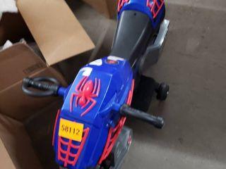 two wheel kids spiderman motorcycle as is