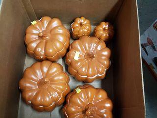 Porcelain pumpkin Bowls set of 6 Orange