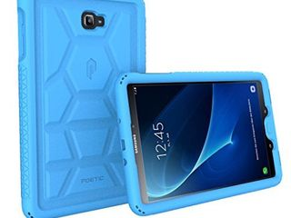 Poetic Galaxy Tab A 10 1  2016  Case  NOT Compatible with The S Pen Model  Heavy Duty Shockproof Silicone Case Cover TurtleSkin Series  for Samsung Galaxy Tab A Tablet 10 1 Inch  2016  Blue