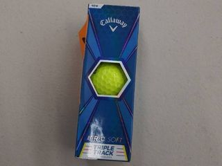 Callaway Erc Soft Triple Track Golf Balls 1 Sleeve  3 Balls  Yellow Brand