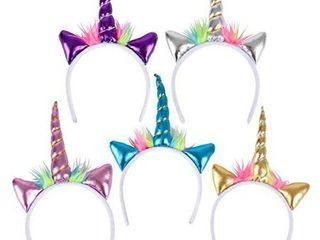 Metallic Unicorn Headband   12 Count