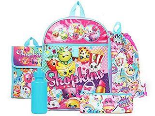 Shopkins Rainbow Backpack   5 Piece Essentials Set