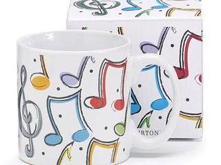 Burton   Burton 13 Oz Color Music Notes Mug
