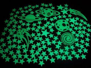 DirectGlow llC 150  Glow in the Dark Stars Super Glowing Galaxy Set