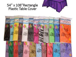 11 pack  Heavy Duty Plastic Table Covers Tablecloth  Reusable   Rectangle 54  X 108  Aqua