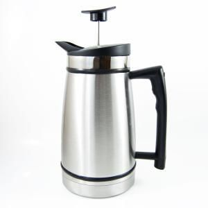 French Press Table Top Coffee and Tea Maker Stop Technology   48 oz   Stainless Steel   Brushed Steel