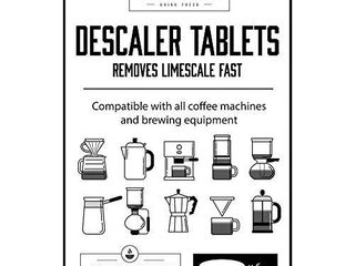 Descaler Tablets  Universal Coffee Maker Descaling Solution  Descale Keurig  Nespresso  Ninja  Braun  Mr Bunn  Delonghi  Verismo  Dolce Gusto and Commercial Machines with Natural  Clean Decalcifier