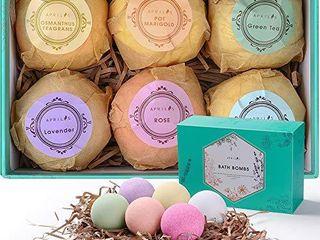 Aprilis Bath Bombs Gift Set  Organic   Natural Essential Oil Bath Bombs for Dry Skin Moisturizing  Handmade Fizzy Spa Bath Set  Perfect Birthday   Christmas Gift for Women Kids