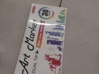 Shuttle Art Marker Pen Marker Set Twin Marker Oily Art Marker 30 Colors Waterproof