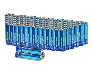 Westinghouse Alkaline AAA Batteries  Bulk Pack 24 Count  leak Proof   long lasting Technology Triple A Primary Batteries with lasting Power for High Drain Devices