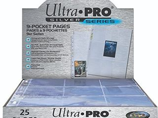 Ultra Pro 9 Pocket Silver Series Pages for Standard Size Cards