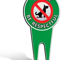 No Poop Dog Signs   Stop Dogs From Pooping On Your lawn   Sign Politely Reads   Please Be Respectful    Protect Your Property   No Poo