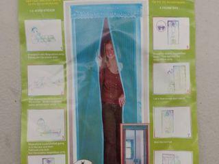 Magnetic Screen Door Mesh Curtain   Full Frame Velcro Fits Doors Up To 38 x 82