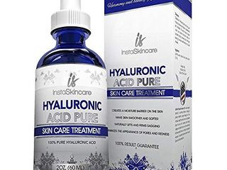 Hyaluronic Acid for Face   100  Pure Medical Quality Clinical Strength Formula   Anti aging serum for your skin and lips  2 oz