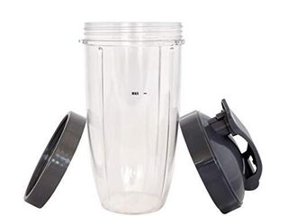 Cup for NUTRIBUllET 32 oz  Tall Colossal Cup with Flip Top   FREE lip Ring     for Nutri Bullet 600 Blender   Nutri Bullet 900 Mixer