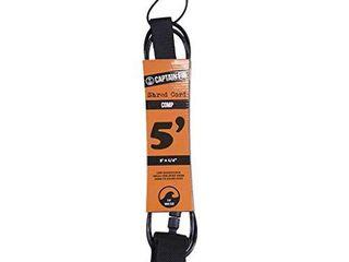 Captain Fin Co    Shred Cord 5 COMP leash   Black