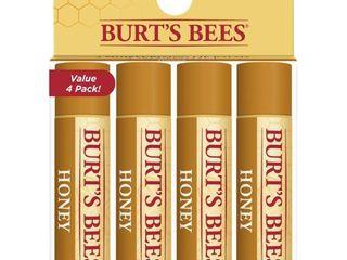 Burt s Bees 100  Natural Moisturizing lip Balm  Honey with Beeswax   4 Tubes