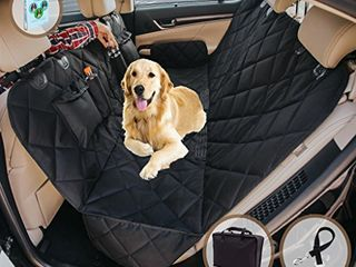 Humutan CACA Dog Car Seat Cover  Waterproof Pet Back Seat Protector with Extra Side Flaps   Medium
