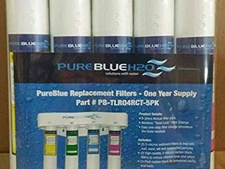 5  PureBlue TlR04RC 5PK Twist lock Replacement Filter Pack for 4 Stage Reverse Osmosis