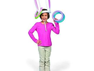 Fun Express Bunny Ears Inflate Ring Toss for Easter  5 Pieces Set  Inflatable Party Game