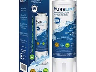 Pureline UKF8001 Water Filter Replacement for Everydrop Filter 4  EDR4RXD1  Maytag UKF8001  UKF8001AXX 750  UKF8001AXX 200  Whirlpool 4396395  WRX735SDHZ00  Kenmore 9084  Puriclean II  Viking RWFFR and Many More Models