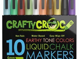 Crafty Croc liquid Chalk Markers  Earth Tone Colors  10 Pack