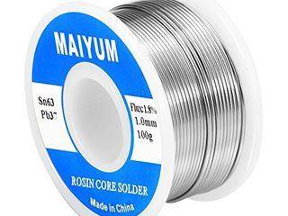 MAIYUM 63 37 Tin lead Rosin core solder wire for electrical soldering  1 0mm 100g