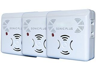 Riddex Sonic Plus Pest Repeller for Rodents and Insects  3 Pack Indoor Repellent with side outlet