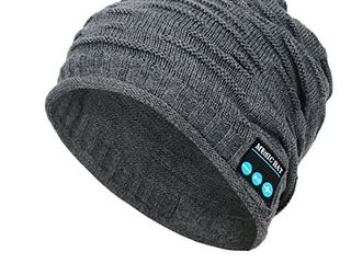 Wireless Bluetooth Beanie  Unisex Outdoor Sport Knit Hat with Stereo Speakers   Microphone