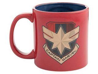 1 Captain Marvel 20 Oz Bas Relief Ceramic Mug Star