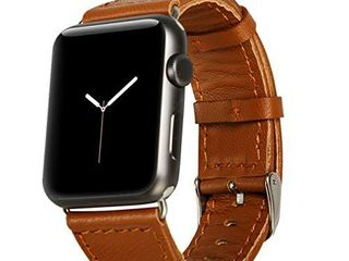 Jisoncase 42MM Apple Watch Band Genuine lambskin leather iWatch Replacement Watchbands with Classic Buckle for Apple Watch Sport Edition  Brown  For 42MM Version  TC AW4 18l20