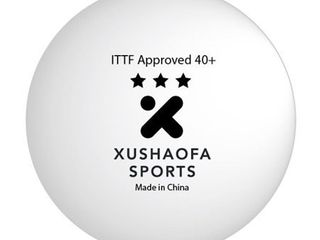 Xushaofa Seamless 3 Star Premium Poly Table Tennis Balls  Quantity 6