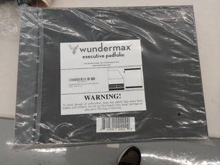 Wundermax Executive Padfolio Portfolio leather Folder Business Resume Notebook