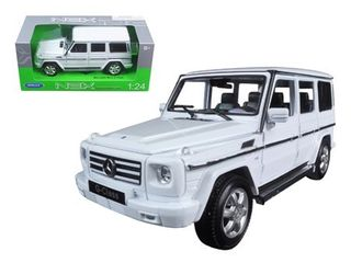 Mercedes G Wagon Class White 1 24 Diecast Model Car by Welly
