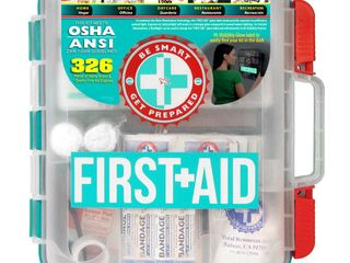 First Aid Kit with Hard Case   326 Pieces
