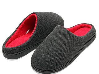 COCOHOME Fuzzy Slippers for Men  Memory Foam  Machine Washable  Size 13   14