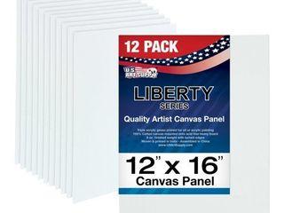 12 Pack of U S  Art Supply 12  x 16  Professional Quality Canvas Panels Acid Free
