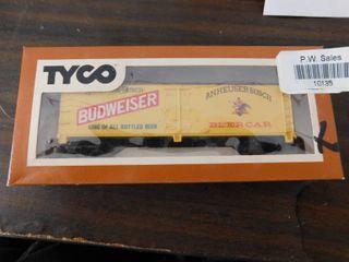 Tyco HO train car   Budweiser reefer car