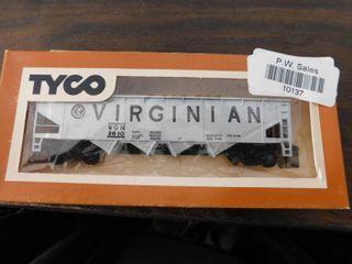 Tyco HO train car   Virginian hopper car