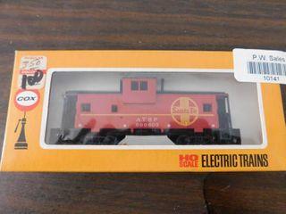 Tyco HO train car   Santa Fe caboose