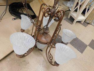 5 fixture chandelier