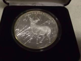 les Kouba limited Edition coin North American Hunting Club    999Silver   5oz