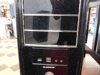 computer gaming case   black   aluminum