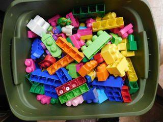 lot of jumbo building blocks