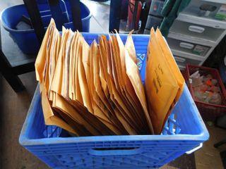 lot of large self sealing envelops