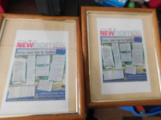 2 nice wood picture frames